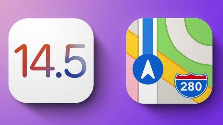 Apple haritalar iOS 14.5