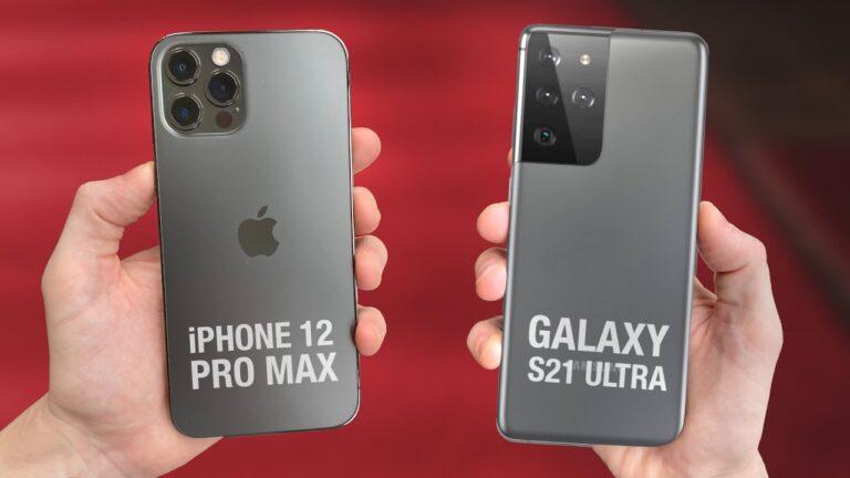 Samsung Galaxy S21 Ultra ve iPhone 12 Pro Max düşme testinde!