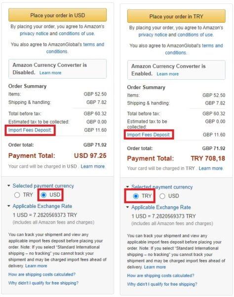 Amazon com'dan alışveriş yaparken gümrük vergisini kim öder?