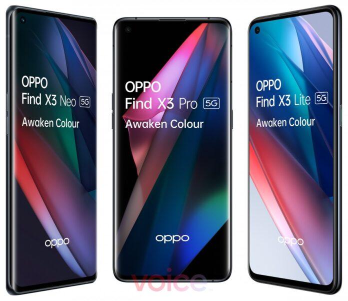 Oppo Find X3 serisi ortaya çıktı: X3 Pro, X3 Neo ve X3 Lite