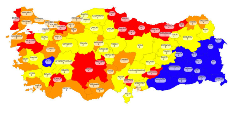 Koronavirüs haritası kırmızı alarm veriyor