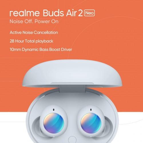 Realme Buds Air 2 Neo kulaklıklar 7 Nisan'da aktif gürültü önleme ile geliyor!