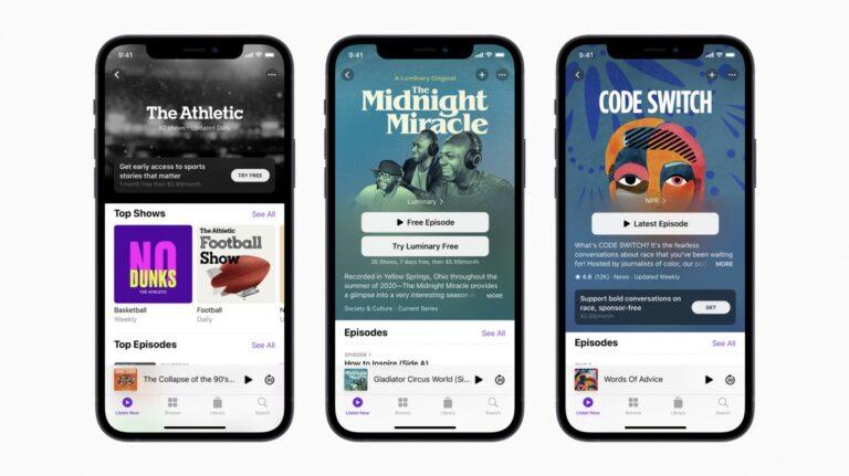 Apple Podcast Abonelikleri yeniden tasarlanmış bir uygulamayla gelecek
