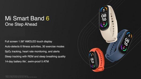 Xiaomi Mi Smart Band 6, uykuda nefes alma kalitesini izleyecek