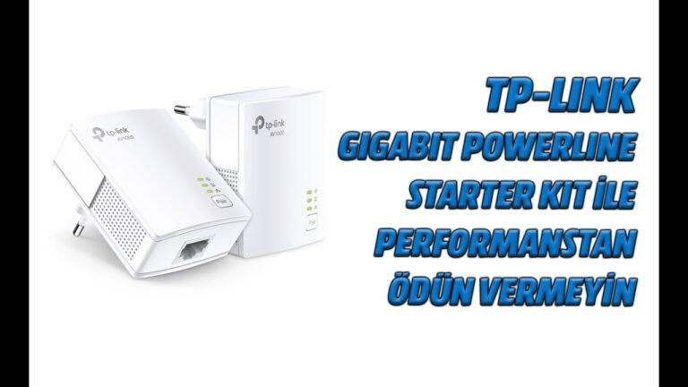 TP-Link Gigabit Powerline Starter Kit ile gigabit bağlantıdan ödün vermeyin