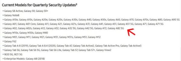 Samsung, Galaxy A82 5G cihazını resmi olarak doğruladı!