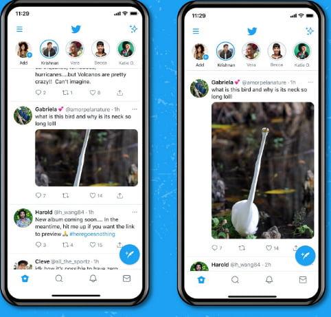 Twitter bugün mobil cihazlarda tam boyutlu resimleri kullanıma sunuyor