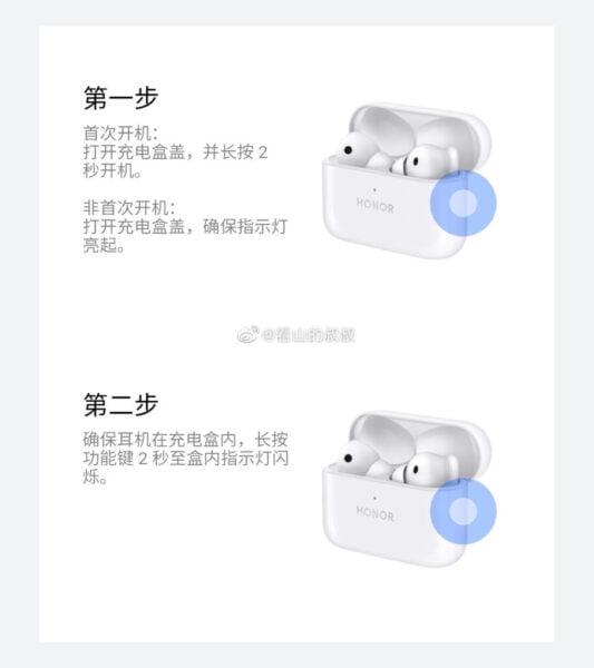 Honor EarBuds 2 SE TWS kulaklık görselleri sızdırıldı