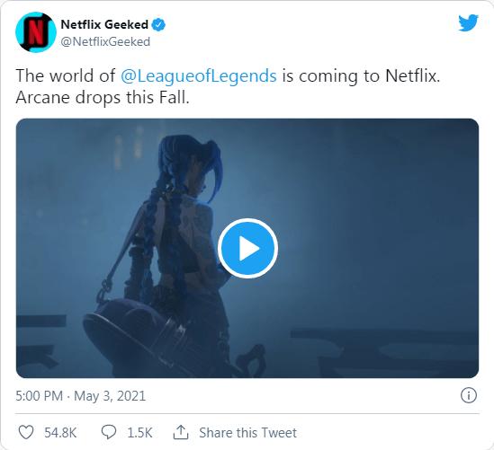 League of Legends programı 'Arcane' bu sonbaharda Netflix'e geliyor