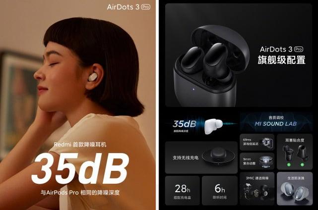 Redmi AirDots 3 Pro, ANC ve 28 saatlik pil ömrü ile tanıtıldı