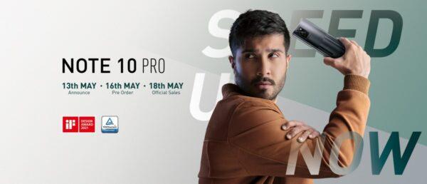 Infinix Note 10 Pro 13 Mayıs'ta geliyor