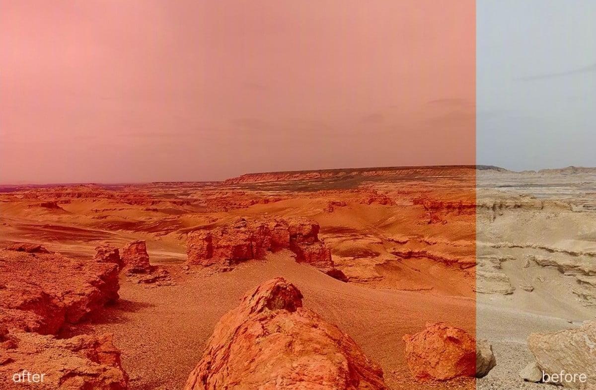 Mars'ta piramitler ortaya