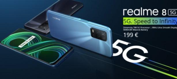 Realme 8 5G Avrupa'ya geliyor