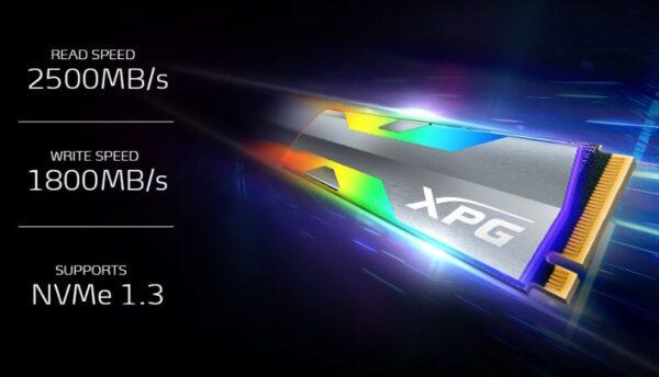 XPG Spectrix 520G 512 GB SSD ile hız ve güven bir arada
