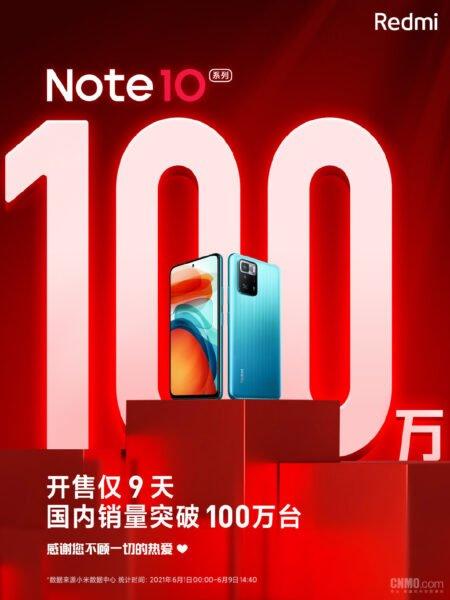Redmi Note 10 serisi, çıktıktan sadece 9 gün sonra milyon sattı
