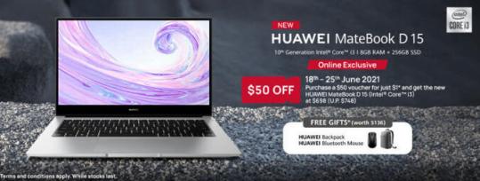 Huawei yeni MateBook D 15 dizüstü bilgisayarını piyasaya sürdü