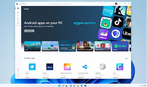 Android uygulamaları Windows 11'e geliyor!