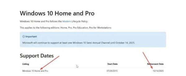 Windows 10 kullanıcıları o tarihten itibaren destek alamayacak