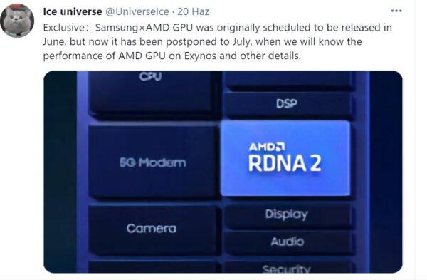 Samsung ve AMD'nin ortak cihazı için geri sayım