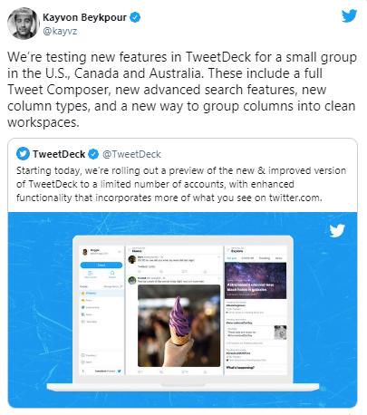 TweetDeck görünümü yenileniyor! İşte detaylar