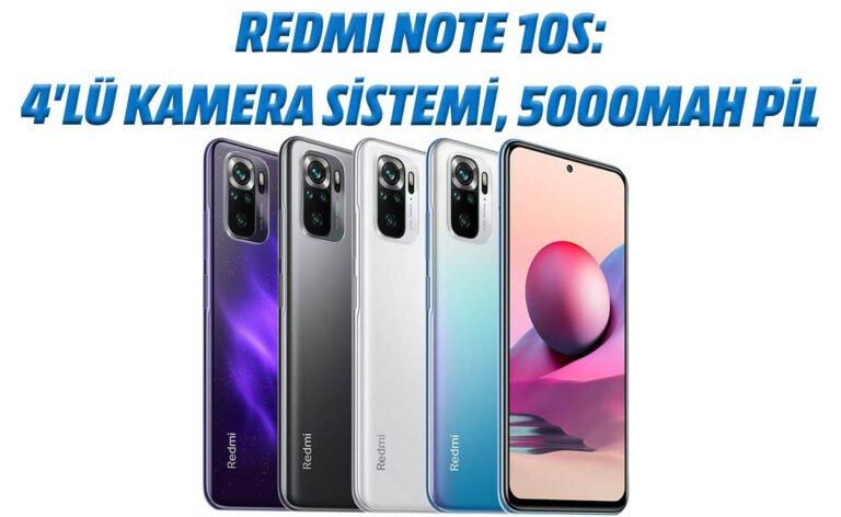 Redmi Note 10S: 4'lü kamera sistemi, 5000mAh pil