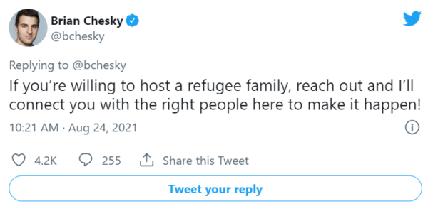 Airbnb, geçici olarak 20.000 Afgan mülteciye ev sahipliği yapacağını söyledi