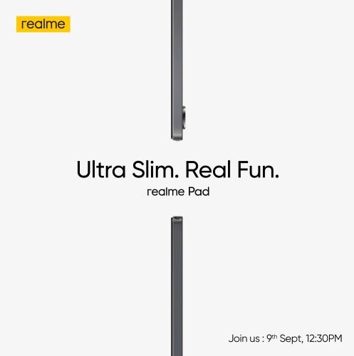 Realme Pad, ince ve hafif tasarımıyla 9 Eylül'de geliyor
