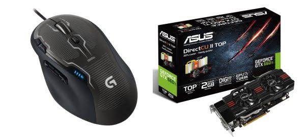 Logitech G500S Lazer Oyun Mouse ve ASUS GeForce GTX 660Ti Çok Özel Fiyat ile Vatan Bilgisayar'da