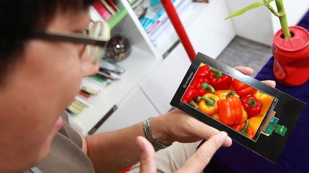 LG, Gelmiş Geçmiş En Yüksek Çözünürlüklü Akıllı Telefon Ekranını Ortaya Çıkardı